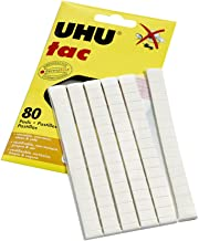UHU Tac Removable and Reusable Glue Pads for Fast & Cleanmounting, Non-Toxic, Ideal for Paper and Small Objects, 80 Tac Pa...