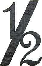 Spanish Rustic Hammered Wrought Iron Address Number 6 inch 1/2 (Black)