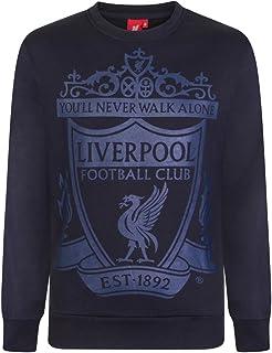 Liverpool FC Official Football Gift Mens Crest Sweatshirt Top