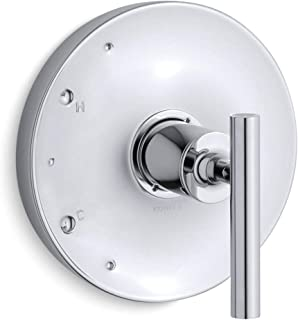 KOHLER K-TS14423-4-CP Purist(R) Rite-Temp(R) valve trim with lever handle, Polished Chrome