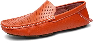 Aomoto Men's Driving Penny Loafers Hollow Vamp Slip-on Flat Soft Sole Moccasins