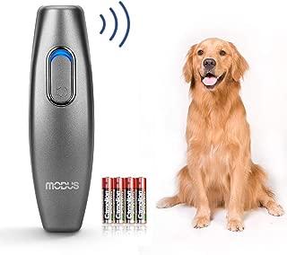 Modus Bark Control Device - Ultrasonic Dog Bark Deterrent, 2 in 1 Dog Behavior Training Tool of 16.4 Ft Effective Control Range, 100% Safe to use, with LED Indicator/Wrist Strap Outdoor Indoor