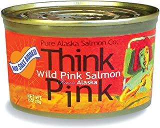 No Salt Added Thinkpink Wild Alaska Pink Salmon (12) 7.5 oz Cans