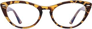 GLINDAR Lunettes de Blocage Lumière Bleu Oeil de Chat pour Ordinateur Réduisent la Fatigue Oculaire