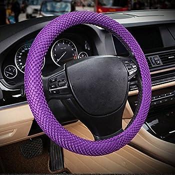 Black and purple zebra steering wheel cover