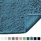 Ultra Soft Texture Chenille Plush Bath Rugs Floor Mats, Hand Tufted Bath Rug Non Slip Microfiber Door Mat for Kitchen/Entryway/Living Room, 24 by 17 inches, Dark Teal