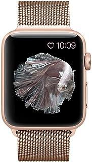 BRG コンパチブル apple watch バンド,ミラネーゼループ アップルウォッチバンド apple watch series1/2/3/4 ステンレス留め金製(38mm/40mm,ゴールド)18ヶ月保証付き