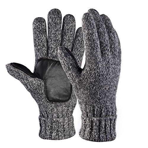 VBIGER ミトン手袋 2way手袋 メンズ レディース スマートフォン対応 指なし 冬用グローブ (グレー)