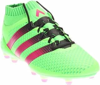 ACE 16.1 Primeknit FG/AG Soccer Cleats (Solar Green, Shock Pink), 8.0 D(M) US, Solar Green/Shock Pink/Core Black