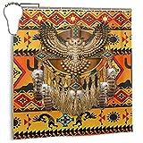 Gelingmei Owl Golden Dreamcatcher Native American Shower Curtain,Waterproof Polyester Fabric,Bath Curtains Bathroom Decorations Home Decor Sets Beautiful Bathroom Decor with Hooks 72x72 Inch