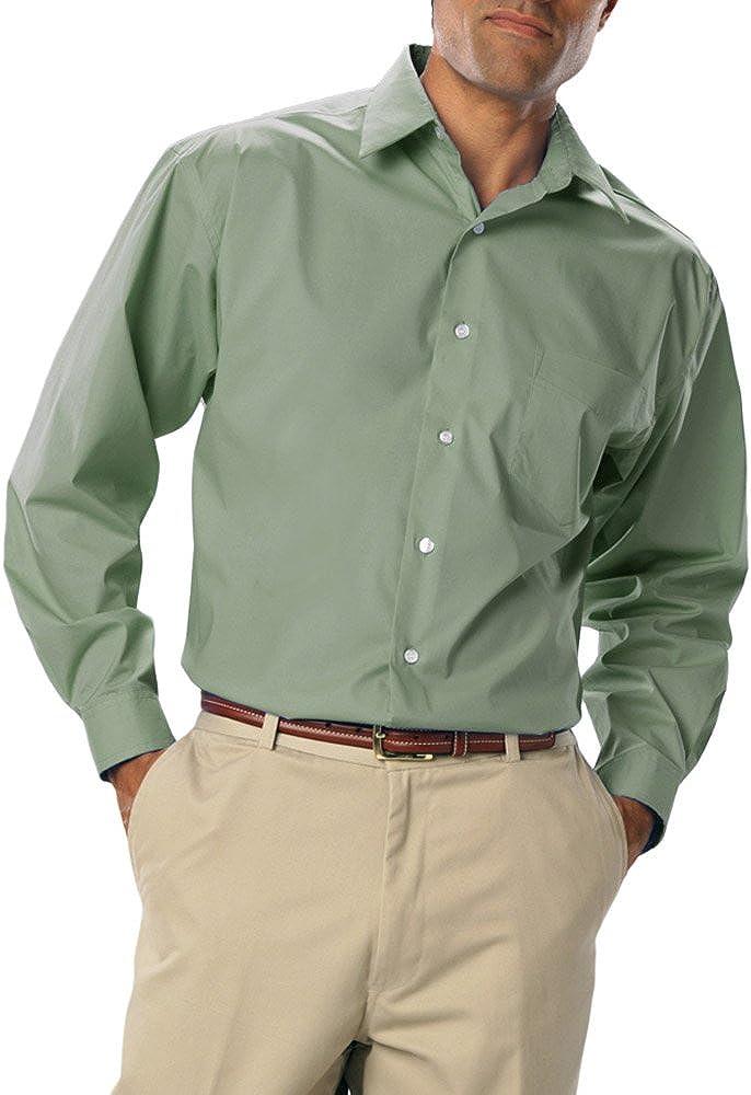 Blue Generation BG7218 - Men's Easy Care Stretch POPLIN Long Sleeve Shirt
