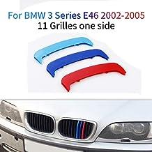M-Colore Franjas Decorativas para Parrilla Delantera para 3 Series E46 316i 318i 320i 325i 328i 330i 323i 2002-2005 3 Piezas (11 Varillas)