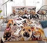 zpangg Juegos de Cama para Perros Ropa de Cama para Perros y Gatos Juego de Funda nórdica para Gatos encantadores Juego de Cama para Perros Juego de Cama para Animales Ropa de Cama Encantadora Single