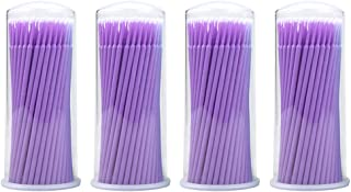 400 Pcs Bendable Micro Applicator Brush, YSLF Dental Micro Applicator Disposable Applicators Micro Mascara Brush for Eyelash Extension