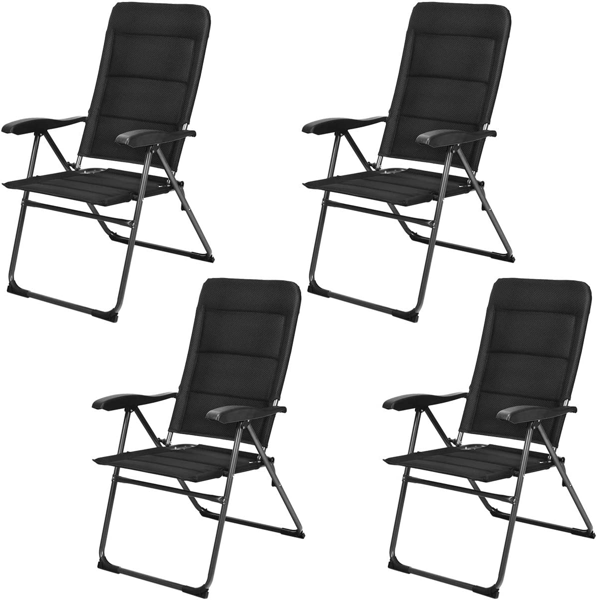 Giantex Set of 4 Patio Adjustable Ba Ranking TOP17 Special sale item Folding Chairs with