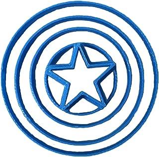 Cuticuter Marvel Captain America Shield Fondant Cutter, blue