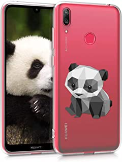 kwmobile TPU Silicone Case for Huawei Y7 (2019) / Y7 Prime (2019) - Crystal Clear Smartphone Back Case Protective Cover - Black/White/Transparent