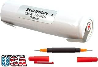 Exell 2.4V Razor Battery for Conair HV1, M06SL, M096SL, Wahl 7700 Craftsman 135112110, 135112111, 315111200, 315111202, 315111230 Replaces Razor-9