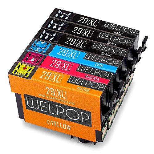 WELPOP Cartucce per stampanti ad alta velocità compatibili con Epson Expression Home XP-235 XP-335 XP-245 XP-432 XP-332 XP-247 XP-342 XP-435 XP-442 XP-345 XP-445 Nero, Blu, Rosso E Giallo