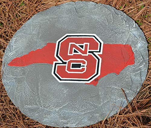 Oxbay North Carolina State Wolfpack Stepping Stone with State Outline