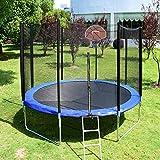 kupet 14FT Trampoline with Basketball Hoop ,Ladder, Safety Net, Spring Cover Padding for Kids