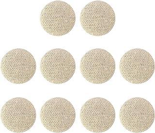 Q421 20 mm 32 L crème marron beige Swirl Motif Tige qualité Bouton Boutons