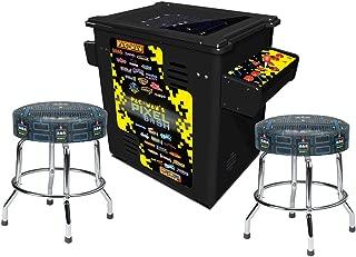 Bandai Namco Amusement America Pac-Man Pixel Bash Arcade Style Game -Black with 2 Pac-Man Stools