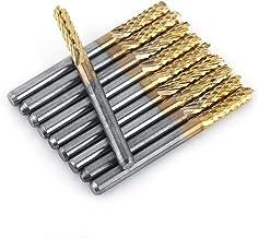 """3.175mm 1/8 """"Carbide End Mill Cutter Geschroefde Schacht Titanium Coated PCB CNC Graveren Router Bits 10 stks"""