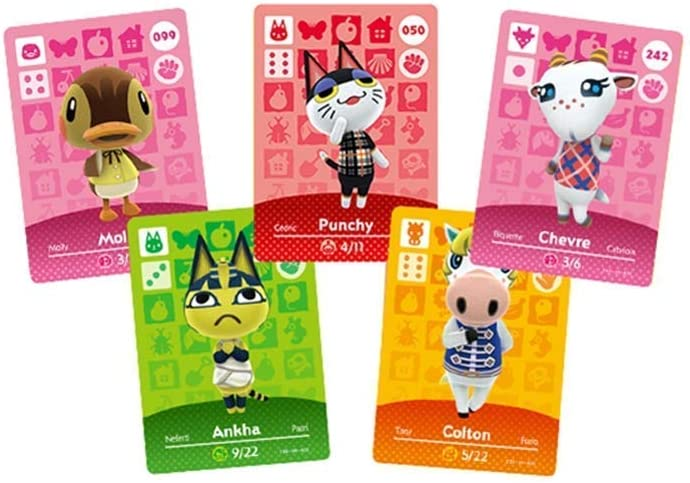 24PCS ACNH Series 1-4 NFC Cards, Compatible with Animal Crossing New Horizons. Mini Card.