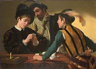 Singing Palette 3 Dipinti Famosi - €40-€1500 Pittura a Olio a Mano da pittori accademici - Cardsharps Caravaggio - Dipinto...