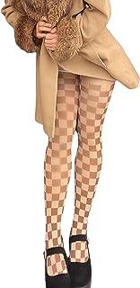 DELIMALI Womens Kawaii Lolita Tights Pantyhose Cute Rubber Vertical Strips Pantyhose Y2K Vintage Legging