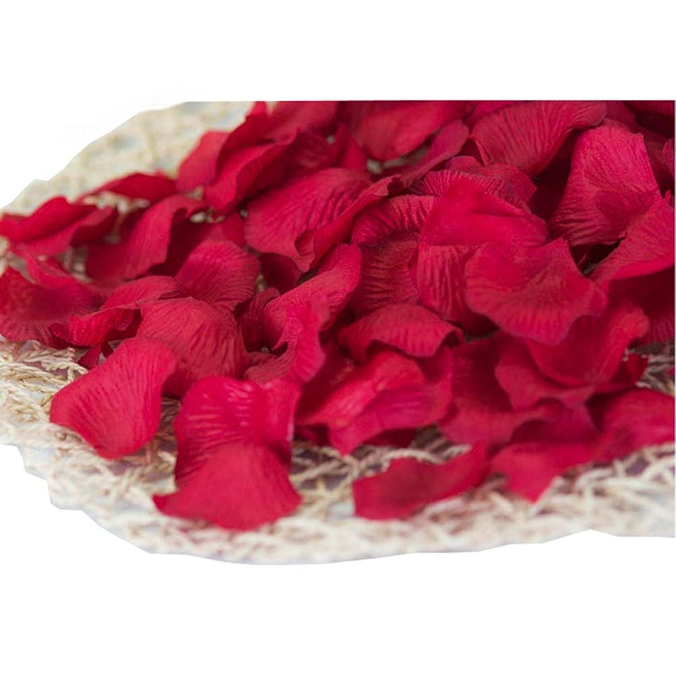 机白い死傷者840の結婚式のための暗赤色の人工ローズフラワーの花びら