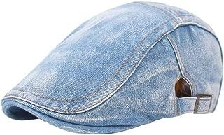 Zhhlaixing Vintage Flat Cap Men's Winter Berets Unisex Hat Duckbill Caps - Mens Denim Jeans Beret Traveling Hat