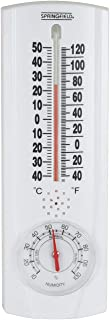 Springfield Vertical Thermometer and Hygrometer (9.125-Inch)