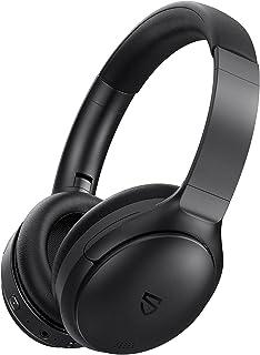 Bluetooth Headphones, SoundPEATS A6 Hybrid Active Noise Cancelling Headphones Bluetooth Earphones Over Ear Headphones, 40 ...
