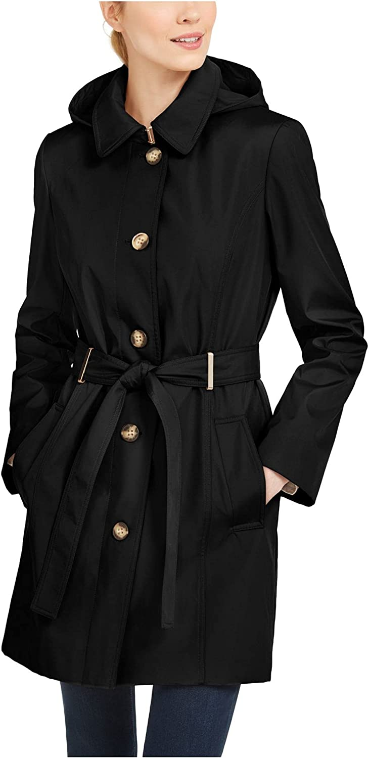 40% OFF Cheap Sale Calvin Klein Womens Max 50% OFF Button Front Belt Trench Coat with