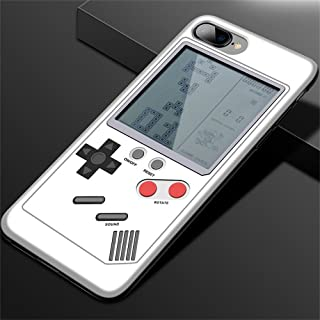 IPhone Case Tetris Game Phone Case Decompression Game iPhone 6/7/8/X Compatible - Slim Fit - Lightweight - Hard Shell - Retro Gamer Case - Retail Box Packaging - Elegant white (for iPhone 7/8)
