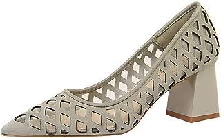 BalaMasa Womens ASL06714 Pu Block Heels
