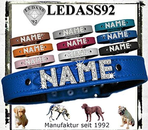 Collar de perro personalizado con nombre en cristales de Swarovski, 10 colores, todos los tamaños