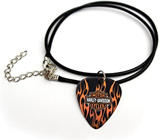 Harley Davidson printed guitar pick necklace 18