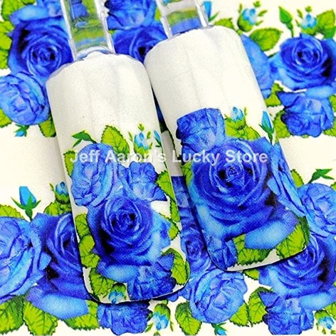 ペインティング航空会社ホイールIthern(TM)5PCS / lotの美容水の転送ネイルステッカーネイルアート装飾用品工具青デカール花のレースのデザインをバラ