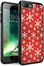 iPhone 7 Case,Apple 7 Case Personalized Design Apple iPhone 7 (4.7 Inch) Black Cell Phone Case Wood background with snowflakes Graphics