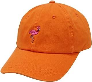 City Hunter C104 Flamingo Small Embroidery Cotton Baseball Cap 13 Colors