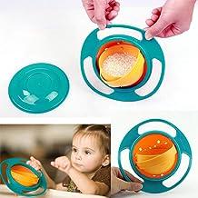 auslaufsichere Sch/üssel Gyroscopic Bowl mit Deckel f/ür Baby-Kinder Vermeiden Sie das Versch/ütten von Lebensmitteln mit lustigem Spielzeug-Baby-Geschirr Koowaa Cute Baby Bowl 360 /° drehbare