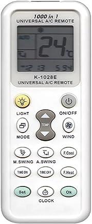[Chinryou] リモコン エアコン用 各社共通 1000種対応 ユニバーサルマルチリモコン 自動検索 K-1028E(ホワイト)