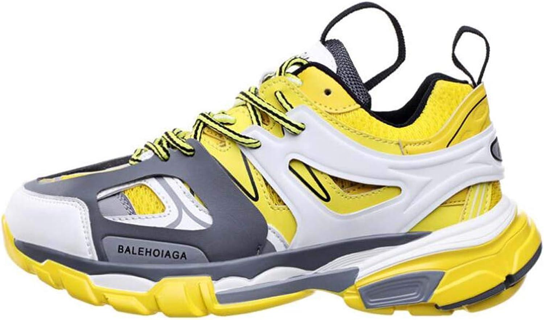 CYY Mens Fitness Air Bubble Sport Walking Laufen Performance Schuhe Leichte Trainer,Gelb,45