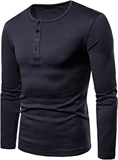 1018504d7a98a Cottory Men s Long Sleeve Bottoming Henley Shirts