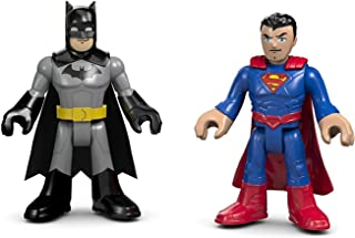 Fisher-Price Imaginext DC Super Friends Super Hero Flight City - Replacement Batman and Superman Figures