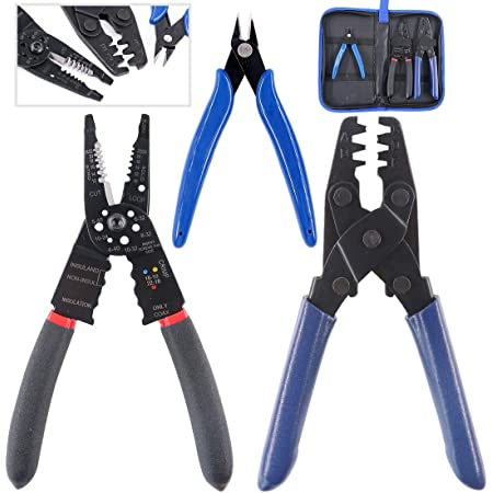 24-14 AWG Terminal Crimping Tool Style Pliers Wiring Harness Terminal Crimp Tool