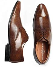 BLACK BOTTOM Men Formal Shoes Brown, Lace Up Formal Shoes for Men, Patent Leather Formal Shoes for Office Meetings Wedding...